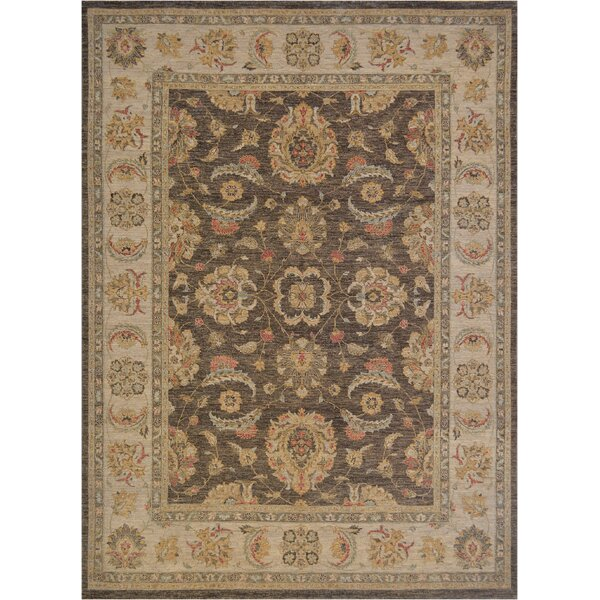 One-of-a-Kind Agra Fine Hand-Knotted Wool Brown/Beige Indoor Area Rug by Mansour