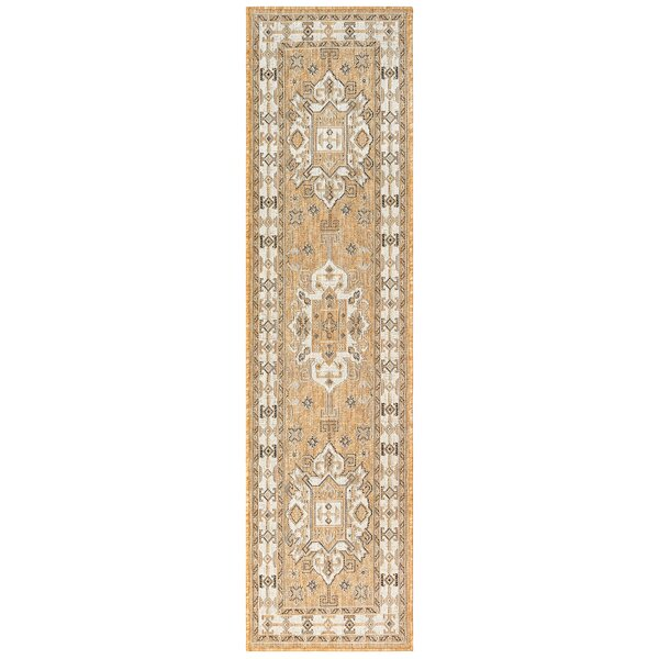 Arverne Neutral Indoor/Outdoor Area Rug by Charlton Home
