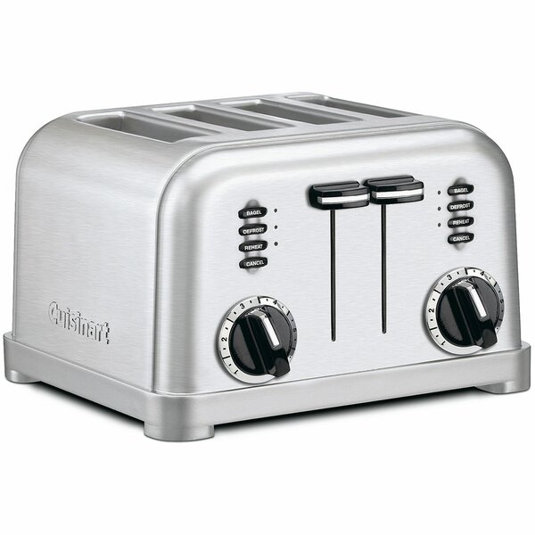 Metal Classic 4 Slice Toaster in Brushed Stainless