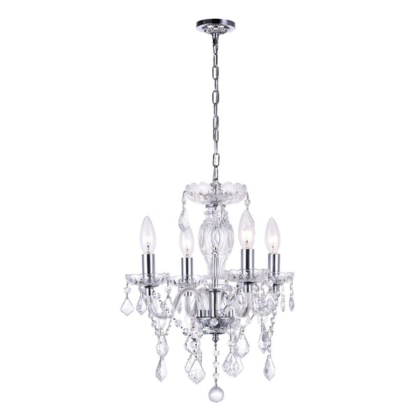 Schram 4 - Light Candle Style Classic / Traditional Chandelier by House of Hampton House of Hampton