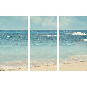 'Dream Big Triptych' Painting Print on Wrapped Canvas by Beachcrest Home