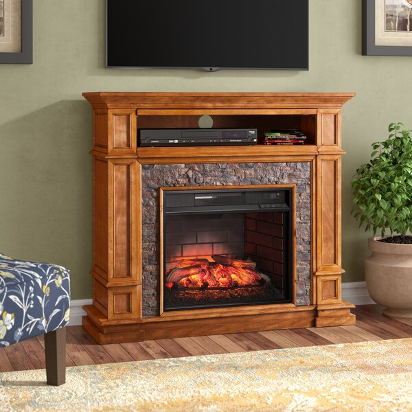 Cargile Simulated Media Center Infrared Electric Fireplace by Alcott Hill