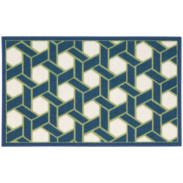 Fancy Free & Easy Shoji Blue/Beige Area Rug by Waverly