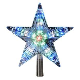 color changing led star treetop by kurt adler - Kurt Adler Christmas