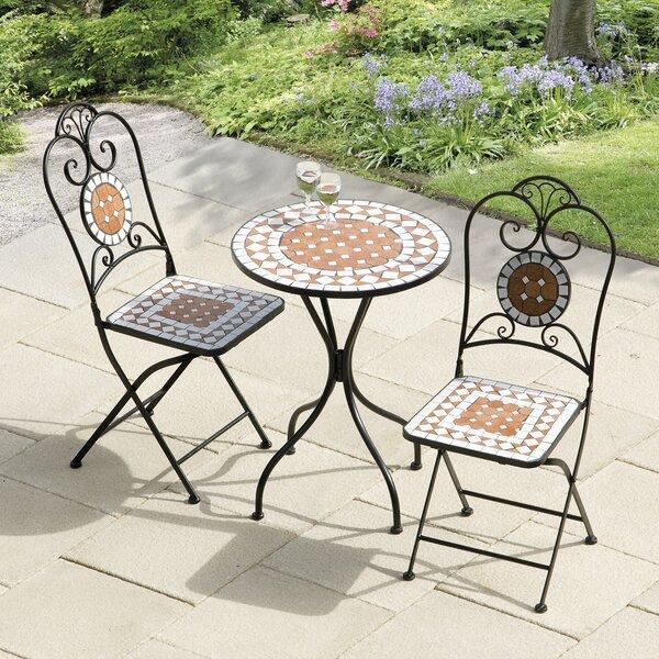 Lowery Diamond Mosaic 3 Piece Bistro Set by Bungalow Rose