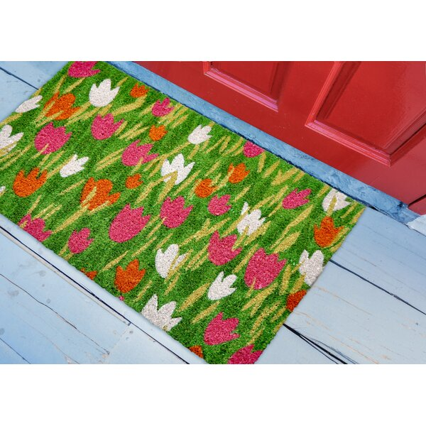 Checkman Tulip Field Utility Mat by August Grove
