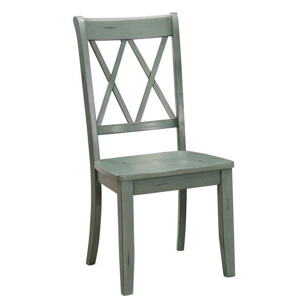 Trypimeni Cross Back Side Chair In Black By Gracie Oaks