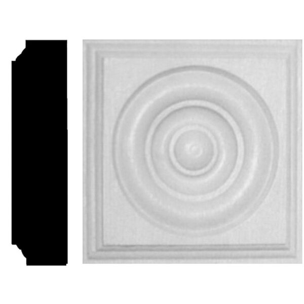 1-1/8 in. x 4-1/2 in. x 4-1/2 in. MDF Rosette Block Moulding by Manor House