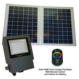 Great Price 3-Piece LED Flood Light Set By Solar Goes Green
