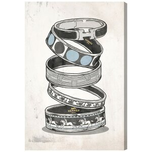 Arm Candy Silver Graphic Art on Wrapped Canvas by House of Hampton