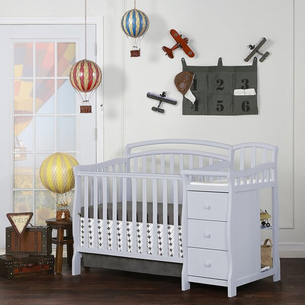 Casco 4-in-1 Convertible Crib and Changer by Dream On Me