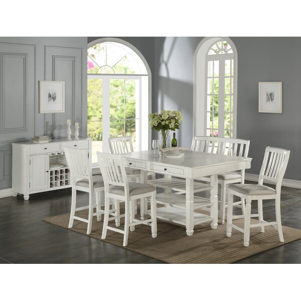 Dwaine 6 Piece Pub Table Set by Highland Dunes Highland Dunes