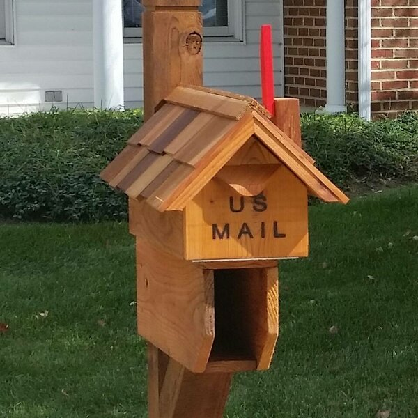 Chimney Flag Post Mounted Mailbox by Wilray Designs