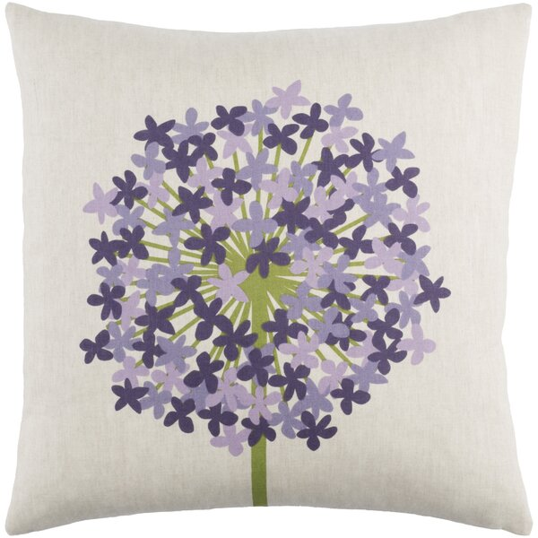 Kismet Agapanthus Linen Throw Pillow by emma at home by Emma Gardner