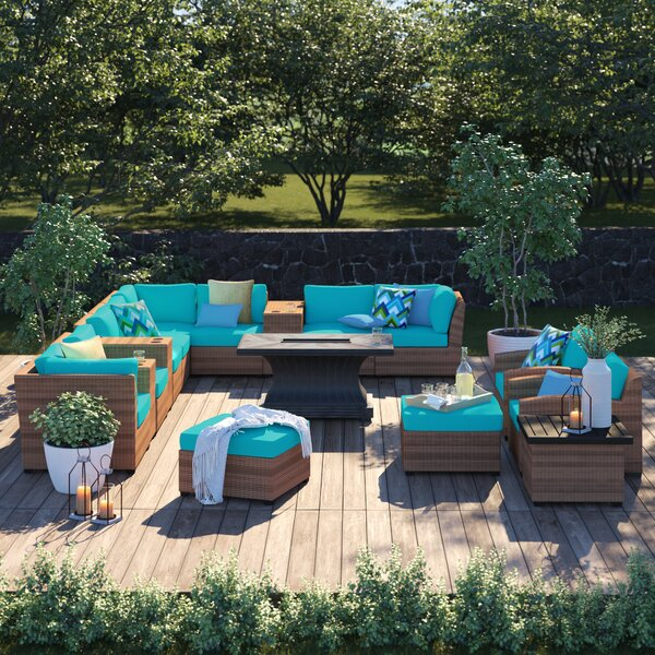 Waterbury 17 Piece Sectional Seating Group with Cushions by Sol 72 Outdoor