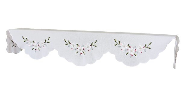 Country Poinsettia  Mantel Scarf by Xia Home Fashions