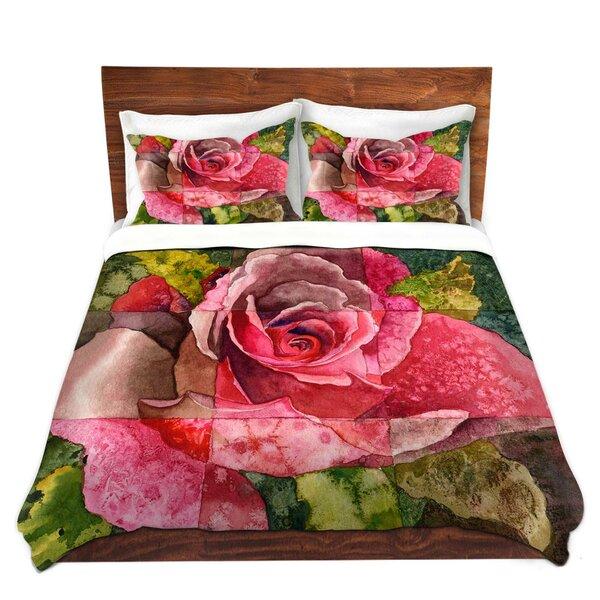 Partitioned Rose Duvet Cover Set