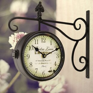 Shop For Dutton Round Double Sided Wall Hanging Clock by One Allium Way
