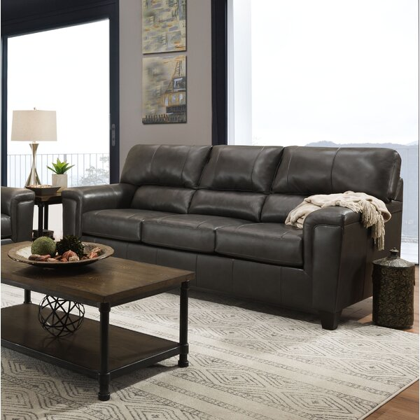Shop Affordable Thy Leather Sofa by Red Barrel Studio by Red Barrel Studio