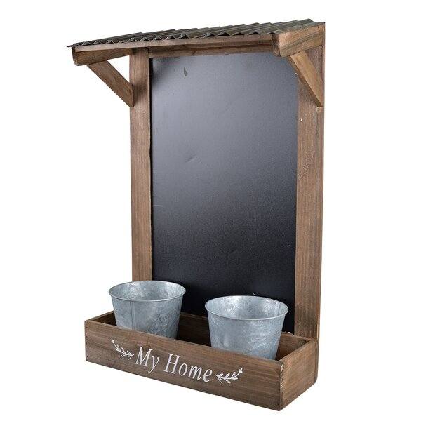 Nola Double Chalkboard Pot Planter by Gracie Oaks