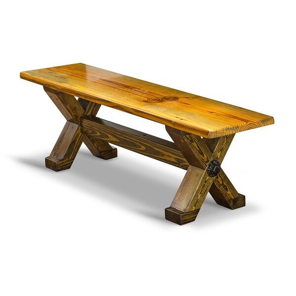 Cross Beam Wood Bench by Vintage Flooring and Furniture Vintage Flooring and Furniture