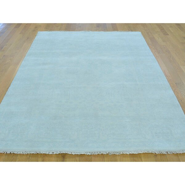 One-of-a-Kind Beare Stone Wash Hand-Knotted Ivory Wool Area Rug by Isabelline