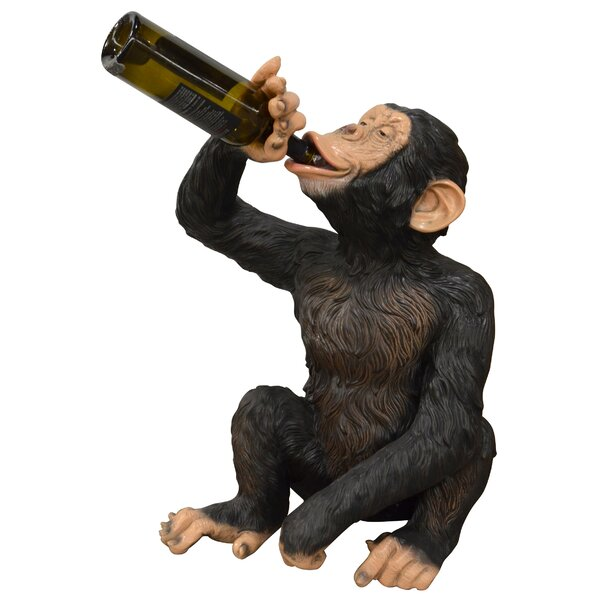 Kamm Boozy Chimp 1 Bottle Tabletop Wine Bottle Rack by World Menagerie World Menagerie