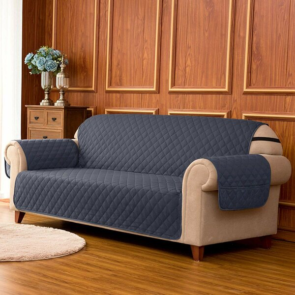Quilted Reversible Box Cushion Loveseat Slipcover by Winston Porter