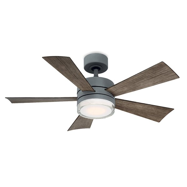 Wynd 5 Blade Outdoor LED Ceiling Fan, Light Kit Included by Modern Forms
