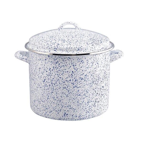 12 qt. Enamel-on-Steel Stock Pot with Lid by Paula Deen