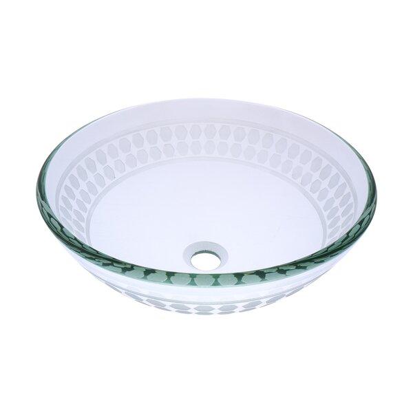 Imponeren Glass Circular Vessel Bathroom Sink by Novatto