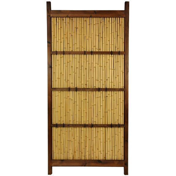 6 ft. H x 3 ft. W Japanese Kumo Fence Panel by Oriental Furniture