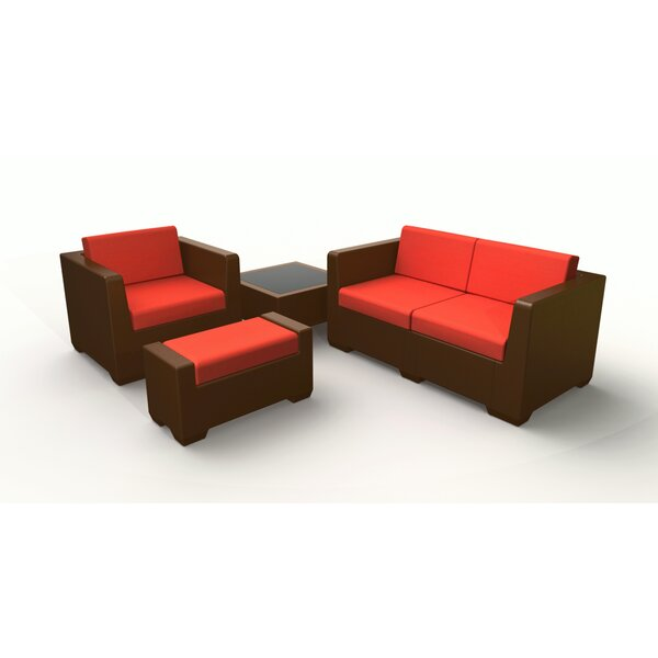 Sturtevant 4 Piece Sofa Set with Cushions by Red Barrel Studio