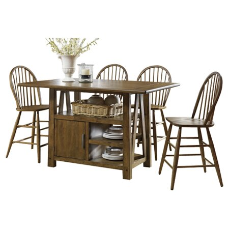 New Claybrooks Centre Island 5 Piece Dining Set By Gracie Oaks Great Reviews