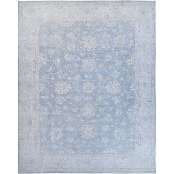 Hand-Knotted Wool Blue/Gray Area Rug by Wildon Home ®