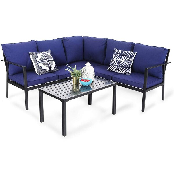 4 Piece Sectional Setting Group with Cushions by PHI VILLA