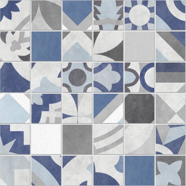 Bouquet 12 x 12 Porcelain Mosaic Tile in Caribe by QDI Surfaces