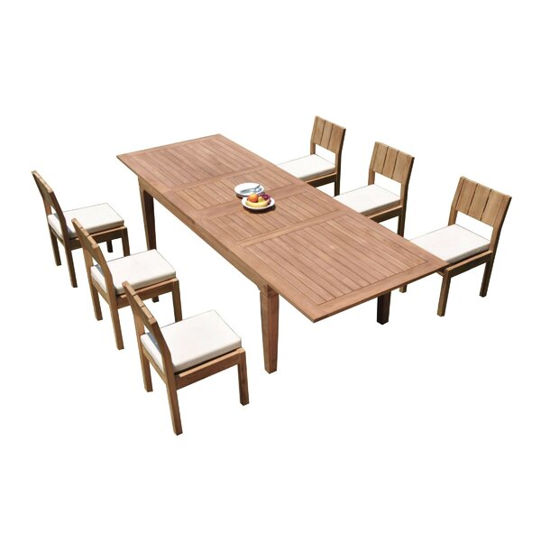 Gavyn 7 Piece Teak Dining Set by Rosecliff Heights