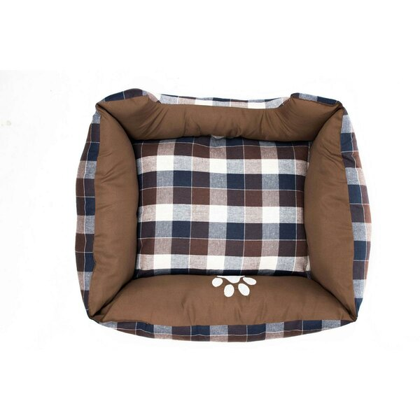 Hasley Large Square Pet Bolster with Comfortably Padded by DR International