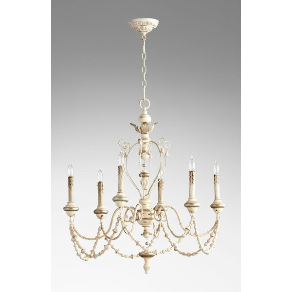 Florine 6 - Light Candle Style Classic / Traditional Chandelier By Cyan Design