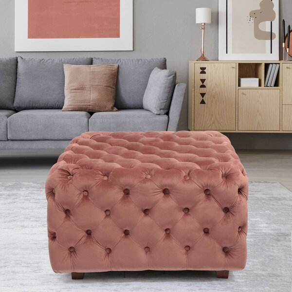 Adah Square Tufted Cocktail Ottoman By Mercer41 Savings