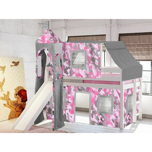 Aisling Castle Twin Low Loft Bed with Slide by Zoomie Kids