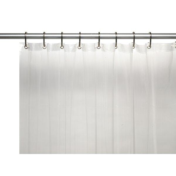 Metal Grommets and Reinfocrced Mesh Header Vinyl 10 Gauge Shower Curtain Liner by Ben and Jonah