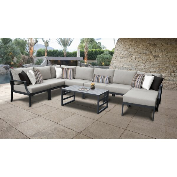 Benner 9 Piece Sectional Seating Group with Cushions by Ivy Bronx