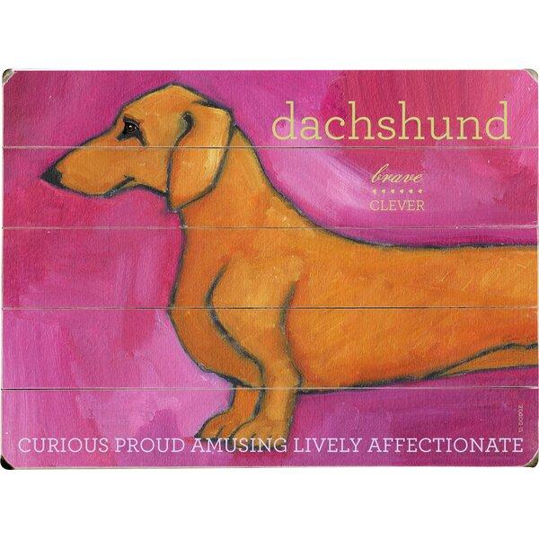 Dachshund Drawing Print Multi-Piece Image on Wood by Artehouse LLC