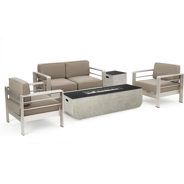 Walt 4 Piece Sofa Seating Group with Cushion by Latitude Run