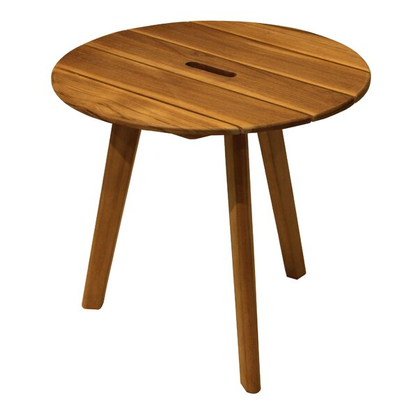 Hillsborough Teak Side Table by Bay Isle Home