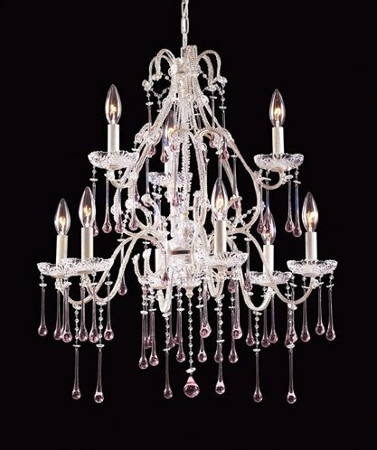 Opulence 9 - Light Candle Style Tiered Chandelier By Elk Lighting