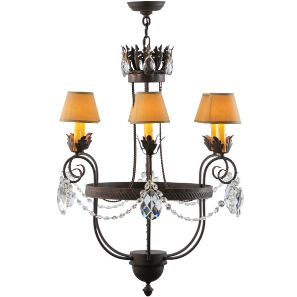 Gorham 6 - Light Candle Style Empire Chandelier By Astoria Grand