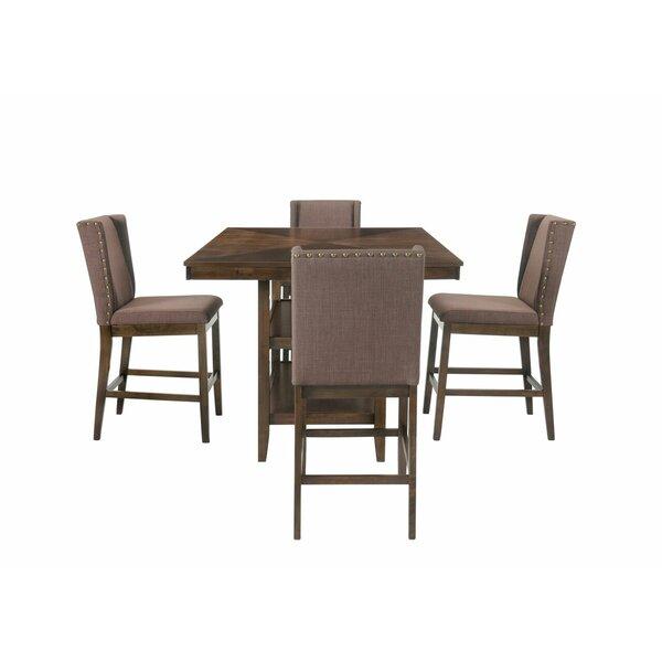 Wallach 5 Piece Pub Table Set by Gracie Oaks
